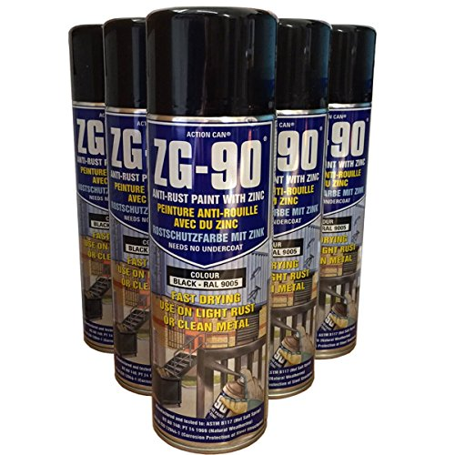 pack-of-2-500ml-zg-90-black-ral9005-anti-rust-zinc-galve-metal-paint