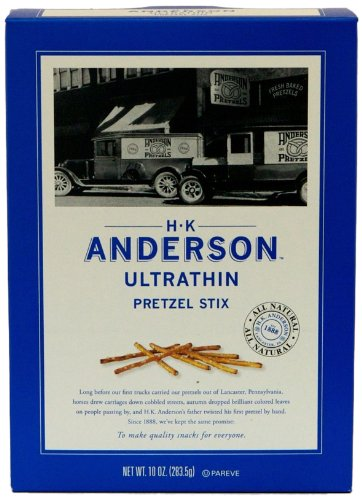 HK Anderson Ultrathin Pretzel Stix, 10-Ounce Boxes (Pack of 12)