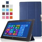 MoKo Ultra Slim Lightweight Smart-shell Stand Case For Lenovo Thinkpad 2 10.1 Inch Windows 8 Tablet INDIGO (with...