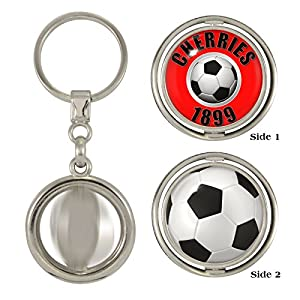 Cherries 1899 & Football 2-Sided Spinner Keyring by 1StopGiftShop