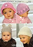 Sirdar Snuggly 4 Ply Babies Hats Booties Mitts Pattern 1742 0 to 7 Years