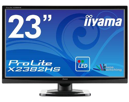 iiyama FullHD(1920x1080)モード対応 広視野角IPSパネル搭載 WLEDバックライト23型ワイド液晶ディスプレイ X2382HS-GB1