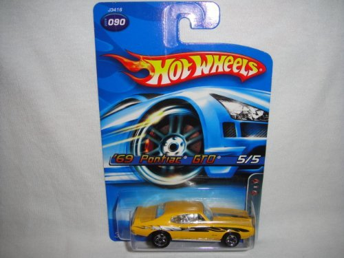 HOT WHEELS 2006 EDITION MOTOWN METAL #5 OF 5 1969 YELLOW PONTIAC GTO DIE-CAST