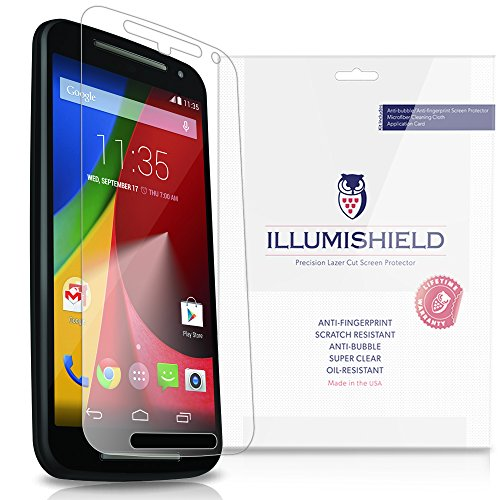 Illumishield - Motorola Moto G Screen Protector (2014) (2Nd Generation) With Lifetime Replacement Warranty - Japanese Ultra Clear Hd Film With Anti-Bubble And Anti-Fingerprint - High Quality (Invisible) Lcd Shield - [3-Pack] Oem / Retail Packaging