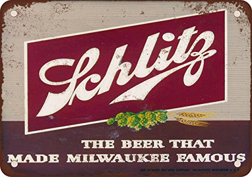 1947 Schlitz Beer Vintage Look Reproduction Metal Sign (Schlitz Beer compare prices)