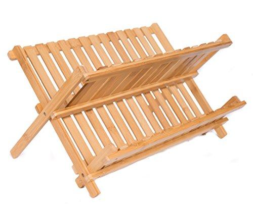 BirdRock Home Bamboo Folding Dish Rack