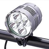 SecurityIng 防水 2500ルーメン LED 自転車ライト3モード 高輝度 ヘッドランプ 8.4V 8000mAh バッテリーパック&充電器付き