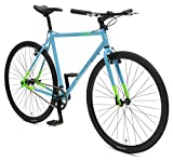 Retrospec Bicycles AMOK V2 CycloCross Convertible Single-Speed/Commuter Bike with Chromoly Frame, Hi-Vis Blue, 60cm/X-Large