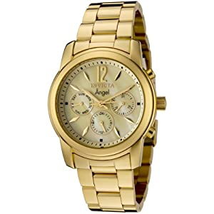 Invicta Women's 0466 Angel Collection 18k Gold-Plated Stainless Steel Watch