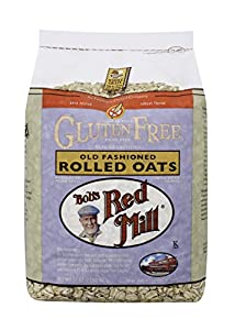 Bob's Red Mill Gluten Free Whole Grain, Rolled Oats, 32-Ounce Bags (Pack of 4)