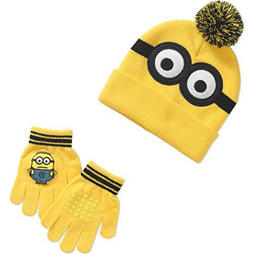 [Despicable Me Boy's Hat, Glove Set] (Despicable Me Minion Hats)