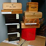 Wooden Quality Empty Cigar Boxes - Quantity 10