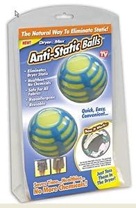 Dryer Max Anti-Static Balls,Blue & Yellow, Pack of 2