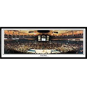 New York Knicks Foul Shot - 13.5x39 Standard Black Frame by Everlasting Images