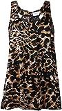 Ex River Island Leopard print Top zipped black brown Animal design zip back vest drapy Ladies Womens