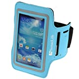 SumaLife Workout Armband Case Pouch for Samsung Galaxy S4 / S4 mini / Samsung S3 / HTC One (Light Blue)
