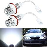 AUDEW 2x Angel Eyes Standlicht Scheinwerfer LED CREE für BMW E39 E53 E60 E61 E63 E64 E65 E83 E87