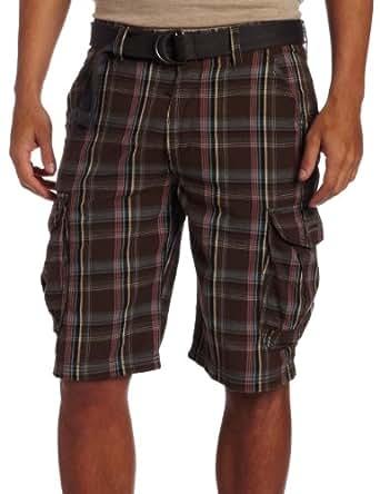 Unionbay Men's Gideon Yarn Dye Cargo Short, Slate Birch, 30