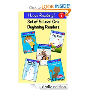 "5 Level One Beginning Readers From The ""I Love Reading"" Series"