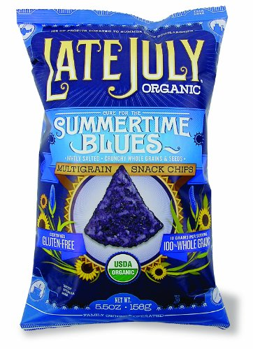 Late July Organic Snacks Multigrain Tortilla Chips, Summertime Blues, 5.5-Ounce (Pack of 6)