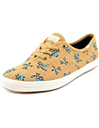 Keds Champion Floral Tan Canvas Sneakers