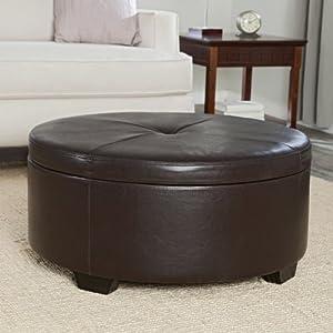 Corbett Coffee Table Storage Ottoman - Round