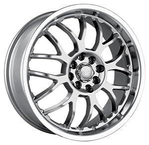 "Akita Racing AK6 460 Hyper Silver Wheel with Machined Lip (17x7""/10x112mm)"