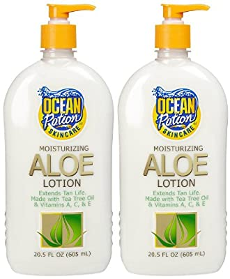 Ocean Potion Aloe After Sun Lotion-20.5 oz, 2 pack