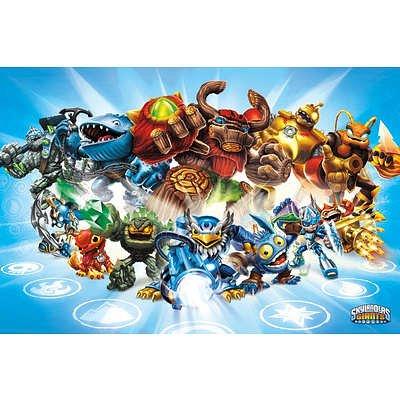 Skylanders - Giants Group 36x24 Poster Video Game Art Print