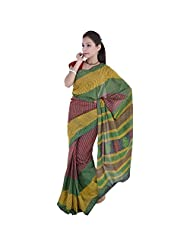 Aaradhya Bagru Hand Block Nep Top Print Cotton Saree For Women - B00TF0DMPQ