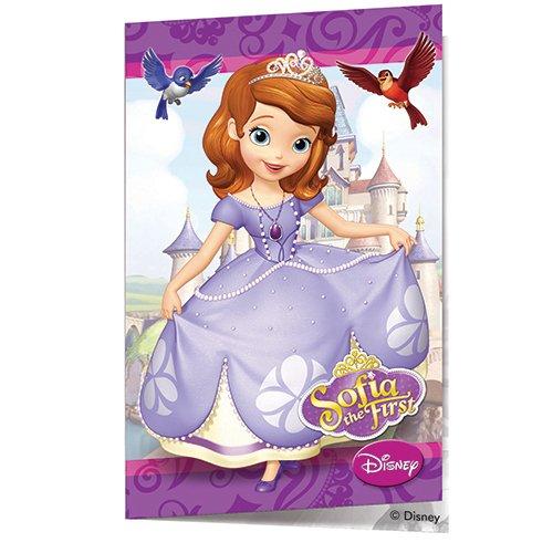 Invitations anniversaire princesse Sofia (x6)