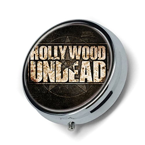 Hollywood Undead Custom Popular Image Round Pill Case Box for purse or pocket.
