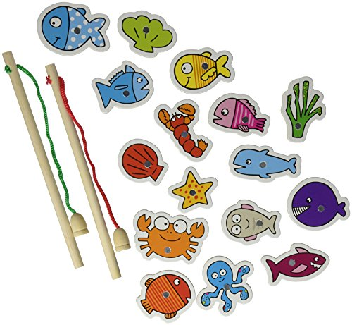 Vilac Fishing Game Baby Toy, Glou Glou - 1