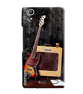 Omnam Music Lover Guitar Printed Designer Back Cover Case For Micromax Selfie 2 Q340
