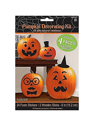 Pumpkin Decorating Kit Makes 4 Jack O Lantern Faces