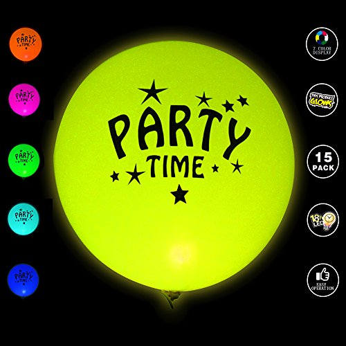Ecparty Flash Color Display Balloons 15 Mixed Color Party Pack for ...