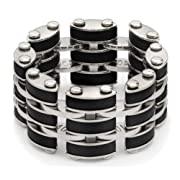 Black Link Steel Mens Ring