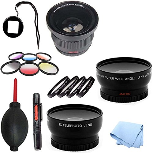 Gopro Lens Adapter With Fisheye & Filter Bundle Lens Kit For Hero Hd 1 3 & 3+