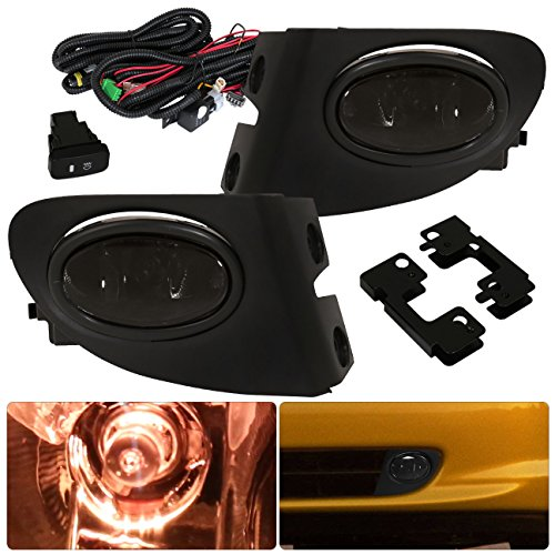 For Honda Civic SI Hatchback EP3 Smoked Fog Lights Lamp Front Driving Bumper Replacement Upgrade (2003 Honda Civic Si Ep3 Parts compare prices)