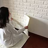 Chambre A Coucher Best Deals - JJQStickers muraux 3D créatif auto adhésif motif papier peint papier peint chambre à coucher décorant le salon TV fond brique d'étanchéité , white