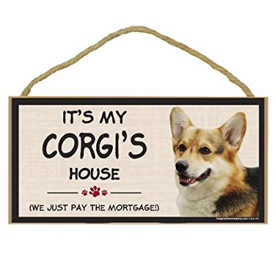 Imagine This Wood Breed Decorative Mortgage Sign, Corgi