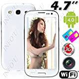 "(FLYING) 4.7"" Capacitive Screen 2 SIM Android 4.0 MTK6577 2-core 3G Smart Phone+ GPS+ Dual Cameras - White"
