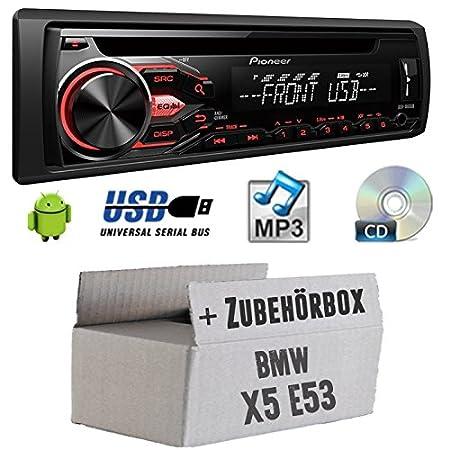 BMW X5E53-Pioneer DEH 1800ub-Kit de montage autoradio CD/MP3/USB -