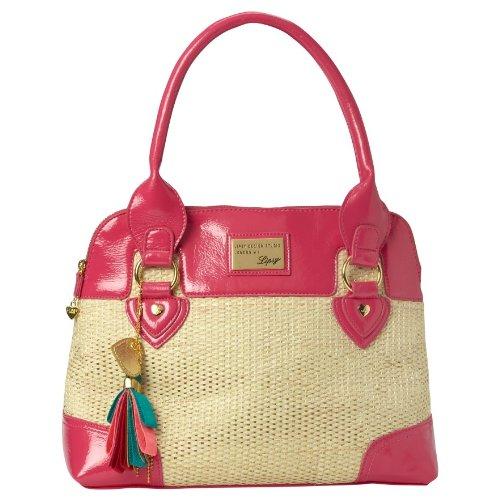 Lipsy Raffia Dome Handbag Bag Pink