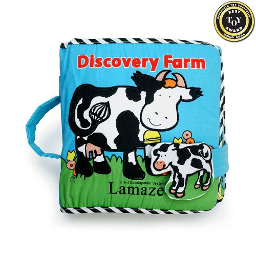 Discovery Farm Soft Cloth Lift-the-flaps Book - Lamaze - 1