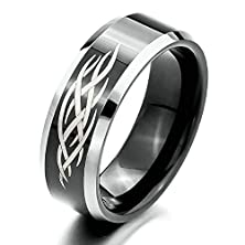 buy Bishilin Mens Tungsten 8Mm Two Tone Promise Ring For Boyfriend Size 7