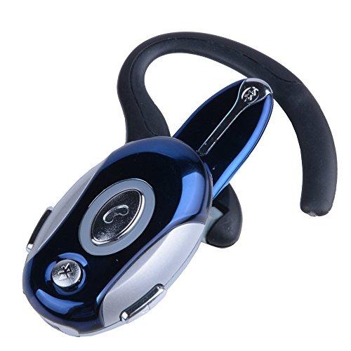 Business Handsfree Earphone Wireless Bluetooth Headset For Cell Phone Samsung Htc Motorola Blue