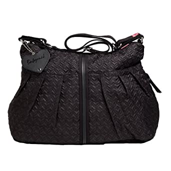 babymel amanda quilted diaper bag black diaper tote bags baby. Black Bedroom Furniture Sets. Home Design Ideas