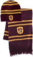 Bundle - 2 items: Harry Potter Gryffindor Beanie Hat and Wool Scarf Set