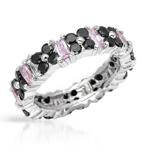 Eternity Ring With 6.90ctw Cubic zirconia Made in 925 Sterling silver. Total item weight 5g (Size 5.5)